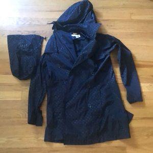 Michael kors blue rain jacket
